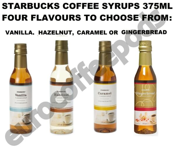Starbucks Toffeenut / Gingerbread Flavour Syrup 375ml To Pick From, Xmas Flavour