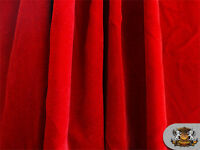 """Triple Velvet RED Fabric /44""""/ Sold By The Yard"""