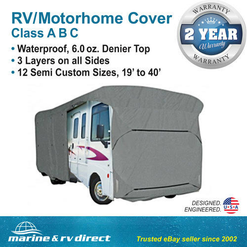Waterproof Rv Motorhome Camper Travel Trailer Cover 38 39 39