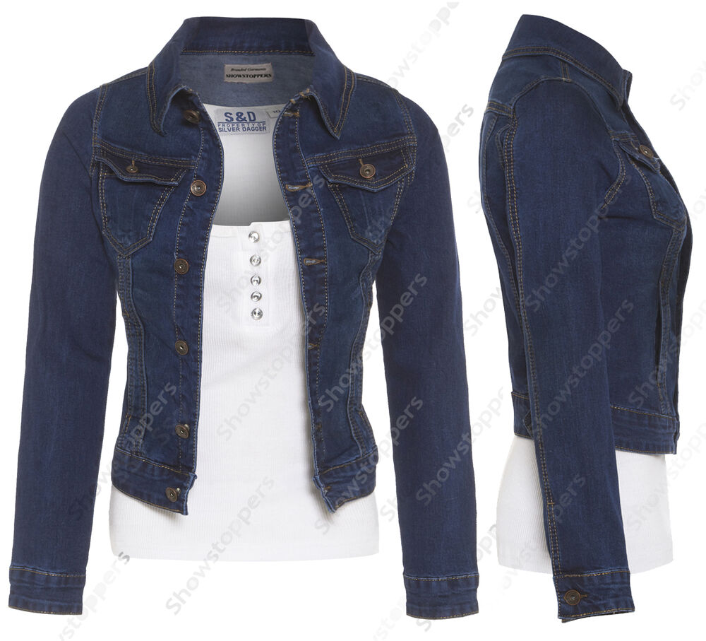 neu plus size 16 18 20 22 24 jeansjacke damen jeans jacken damen blau ebay. Black Bedroom Furniture Sets. Home Design Ideas