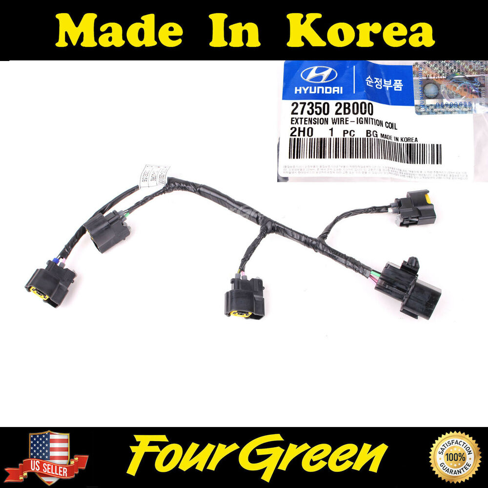 s l1000 genuine ignition coil wire harness for hyundai kia veloster rio  at gsmx.co