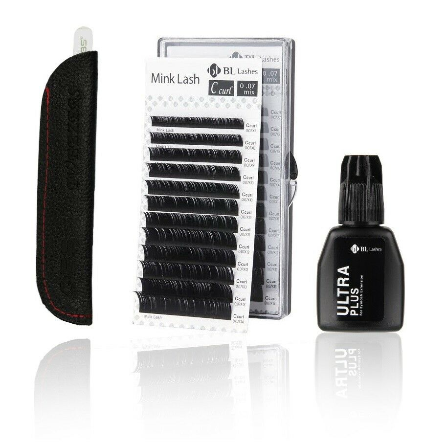 Blink Eyelash Extension Basic Kit Mixed Lash Curl C With Ultra Plus