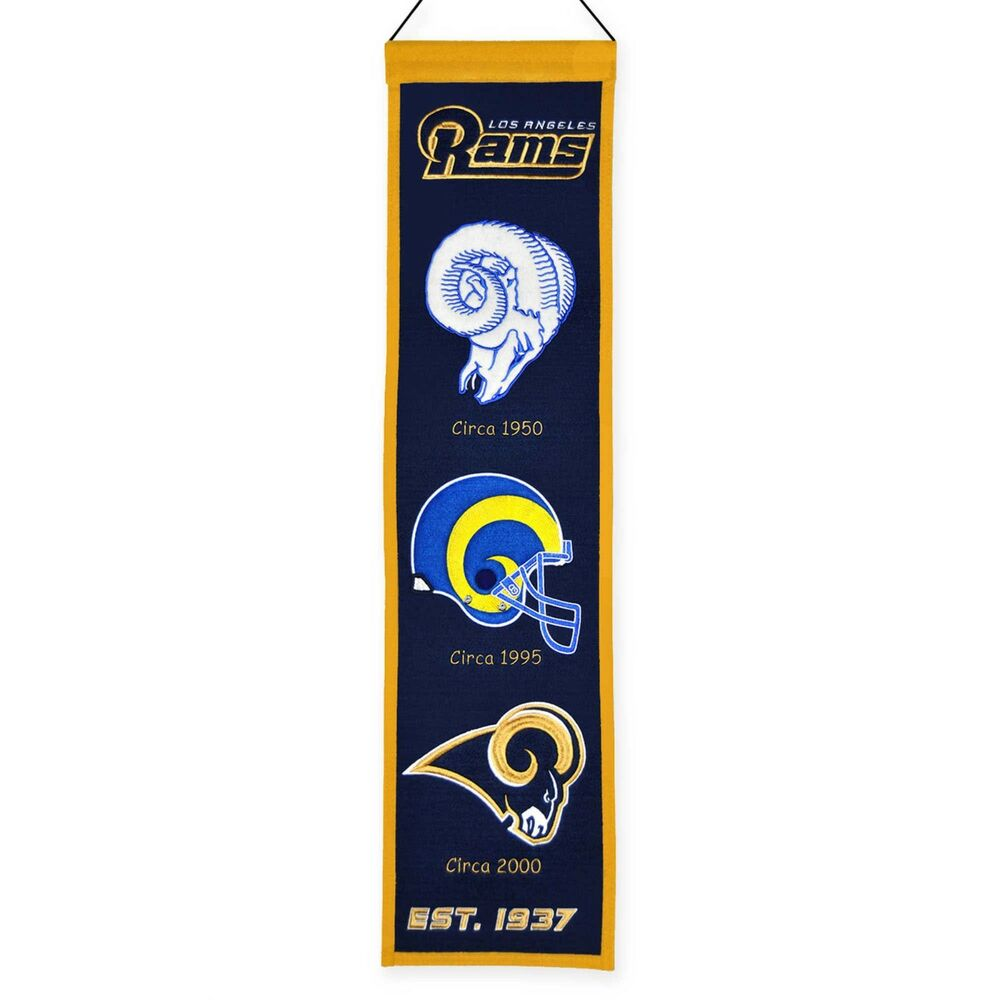 Los Angeles Rams Embroidered Wool Heritage 32 Quot Banner