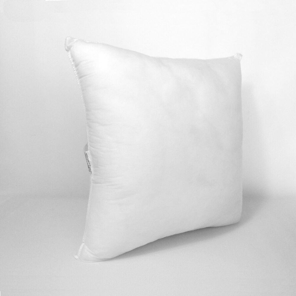 Square Euro Pillow Form Insert ALL SQUARE SIZES Made In USA Throw Pillow Inserts eBay