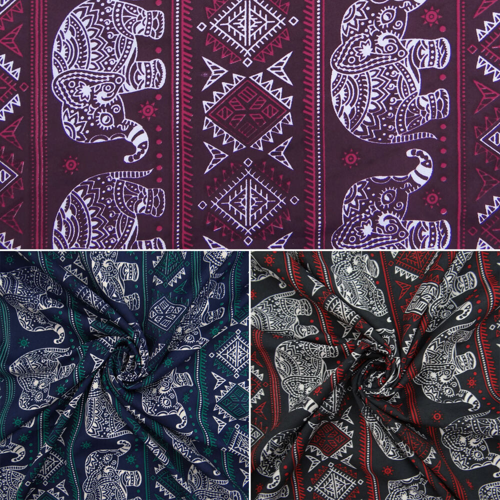 Polyester fabric elephant print fabrics 44 width sewing for The fabric of