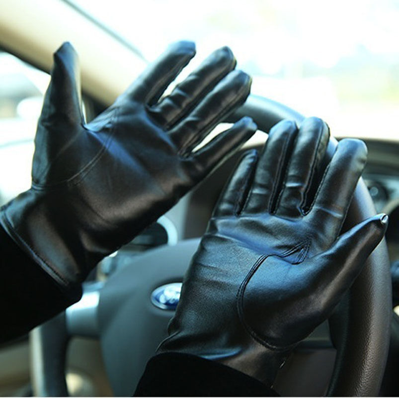 Men / Women Winter Leather Driving Motorcycle Biker Full