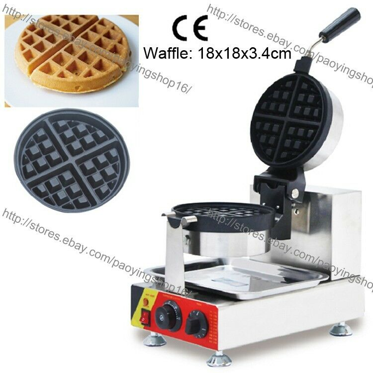 Electric Waffle Maker ~ Commercial nonstick v electric rotating round