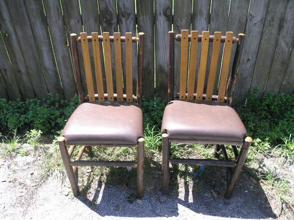 2 Old Hickory Furniture Co Rustic Adult Chairs Disney
