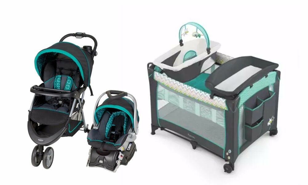 baby trend stroller car seat playard basinet travel system set 90014013073 ebay. Black Bedroom Furniture Sets. Home Design Ideas