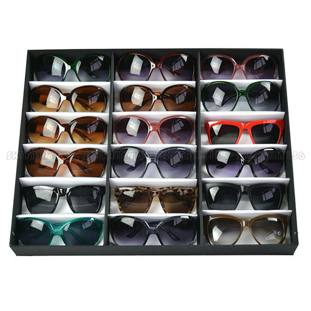 Exceptionnel 18 Slot Eyeglass Sunglasses Glasses Storage Display Grid Stand Case Box  Holder