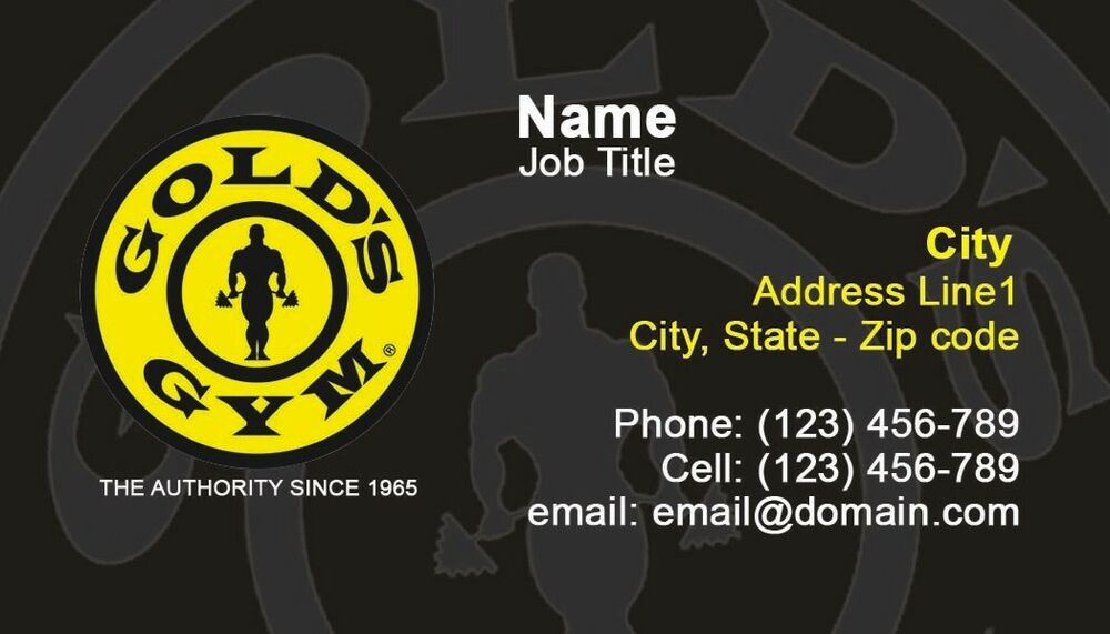 250 GOLDS GYM BUSINESS CARDS - Full Color, - SHIPPING & DESIGN ...