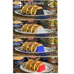 4 Taco Holders, Each Hold 3 Tacos, Pick Any Color Combination, Taco Shell Holder
