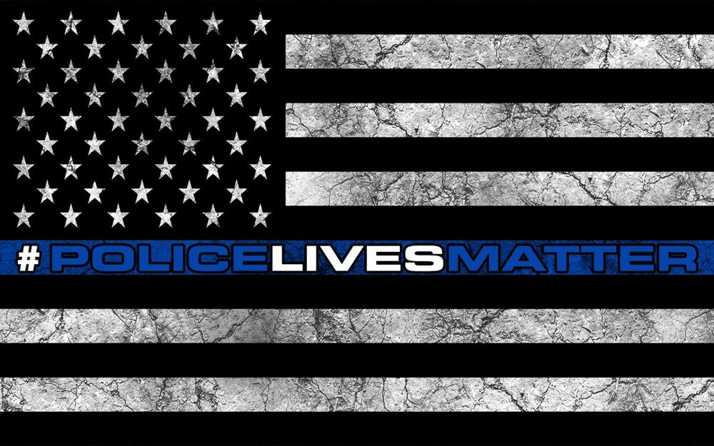 American Police Flag Decal Sticker Usa Police Lives Matter Blue Stripe 5 Quot In Ebay