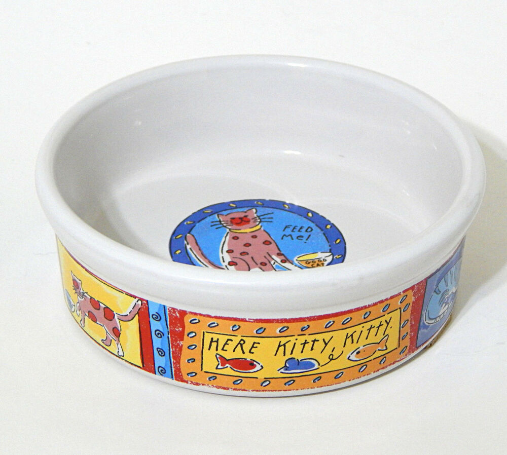 Signature Cat Bowl Pet Food Dish Feed Me Riviera Van Beers