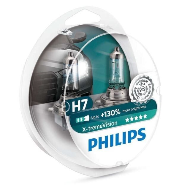philips h7 x treme vision 130 headlight bulbs xtreme. Black Bedroom Furniture Sets. Home Design Ideas