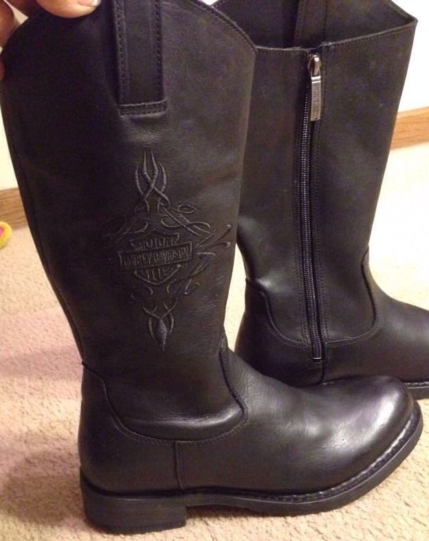 Wonderful  Womens Motorcycle Riding Fashion Ankle Zip Black Leather Boot  EBay