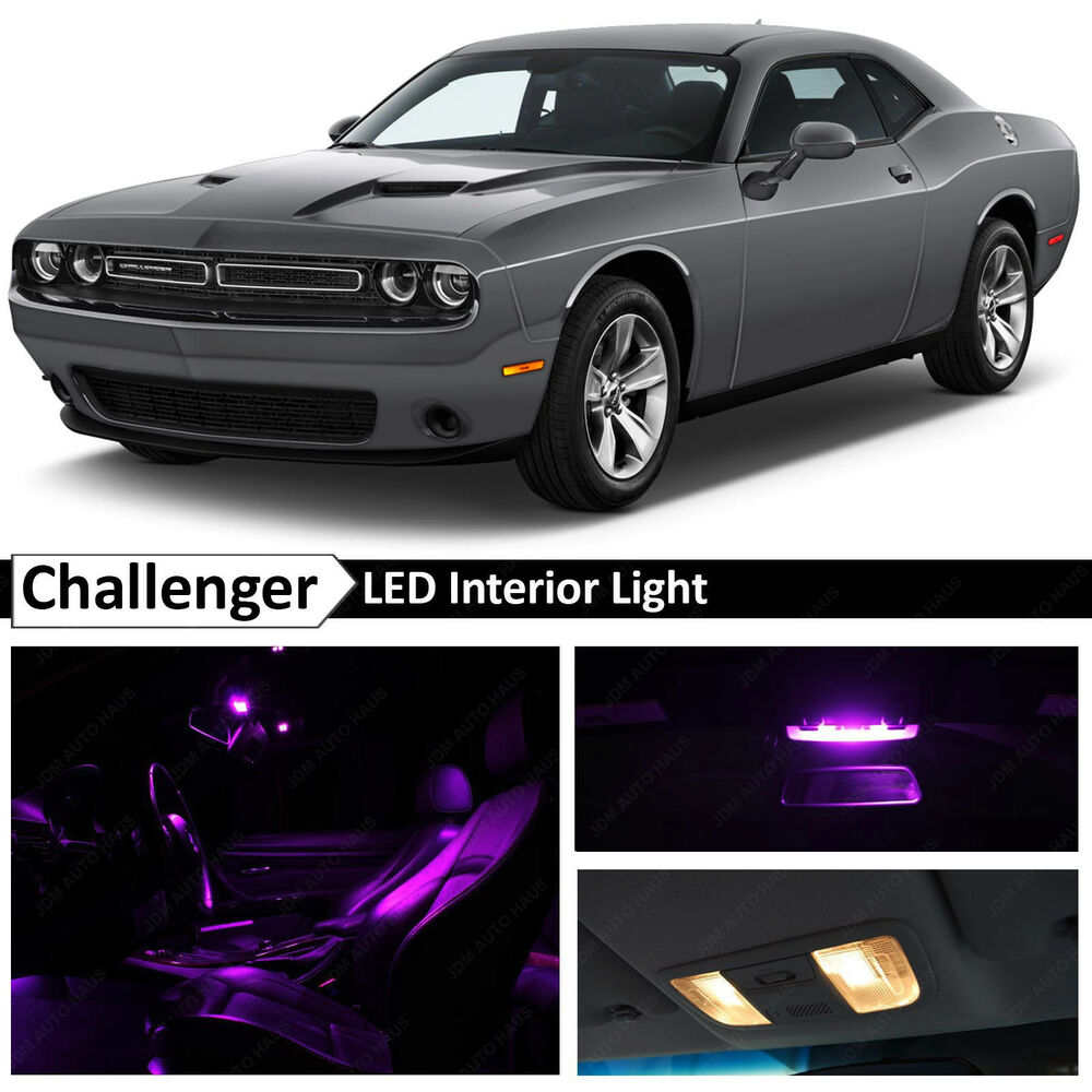 11x fuchsia purple interior led lights package kit 2015 dodge challenger ebay. Black Bedroom Furniture Sets. Home Design Ideas