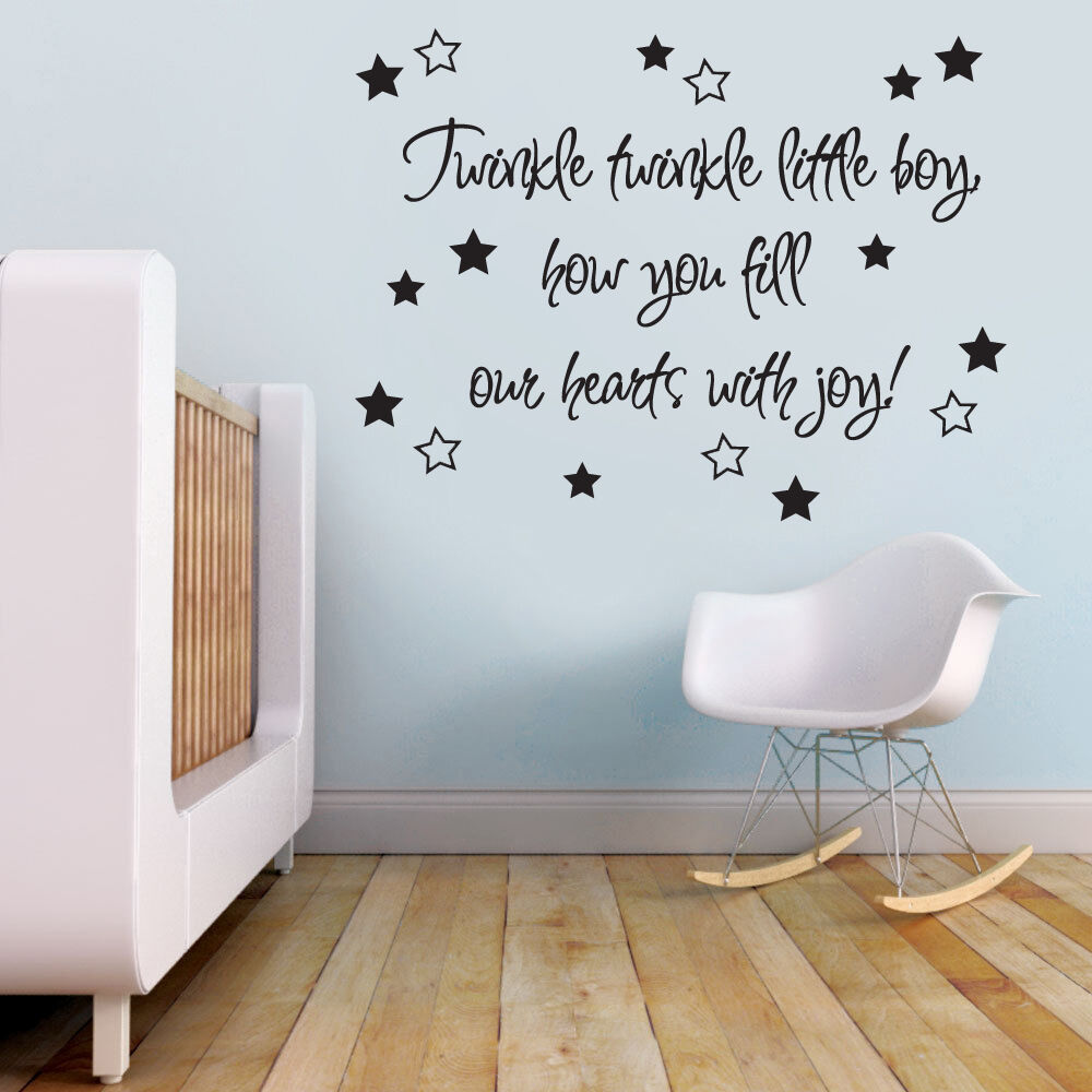 Twinkle Twinkle Quote Baby Nursery Boys Room Wall Sticker Decal Vinyl Wall Art