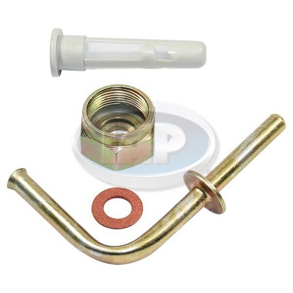 Vw Bug Ghia Gas Tank Outlet Pipe With Screen Filter Nut