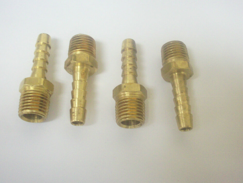 Air quot id hose male npt thread barb fitting