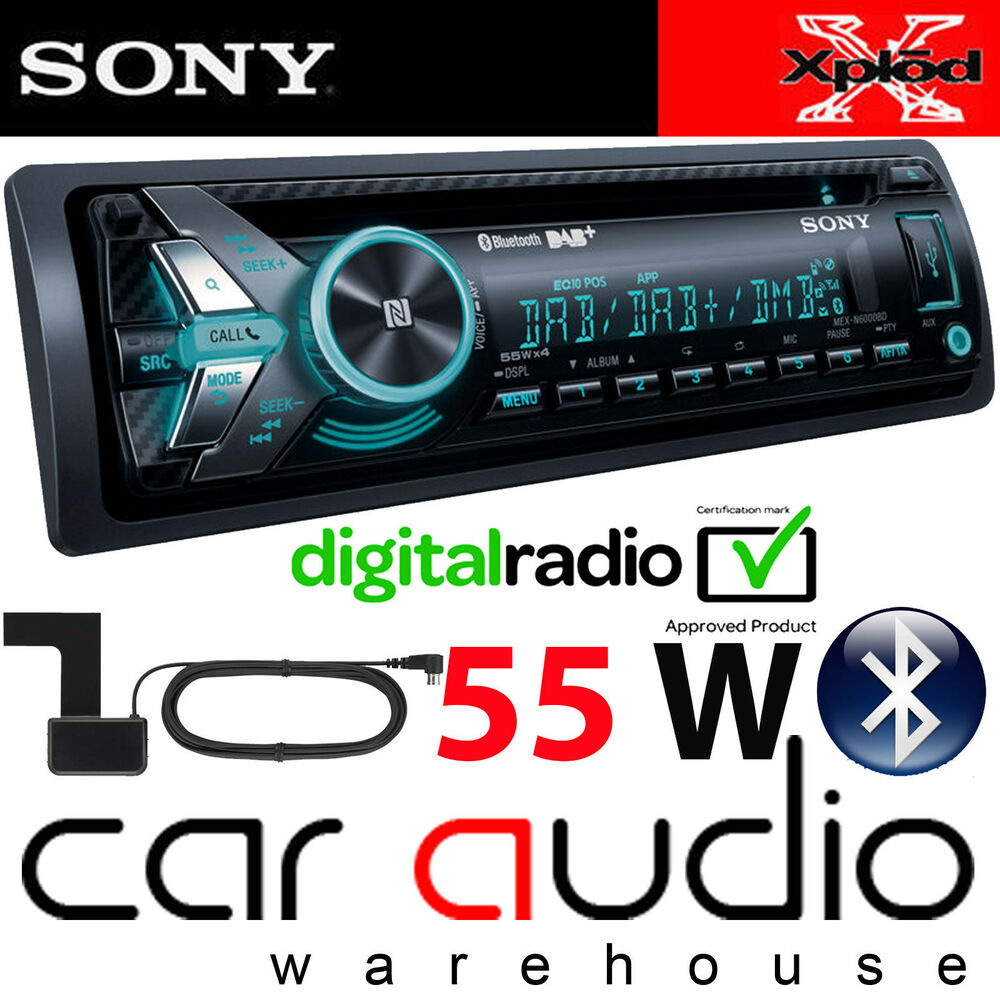 sony mex n6000bd 55x4 watts dab radio bluetooth cd mp3 usb. Black Bedroom Furniture Sets. Home Design Ideas