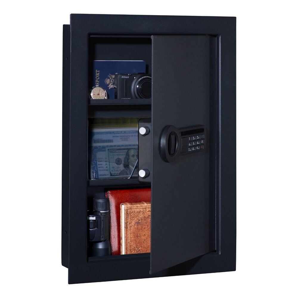 Stack On Pws 15522 Wall Safe With Electronic Lock Ebay