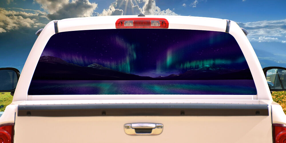 Aurora Rear Window Graphic Back Truck Decal Suv View Thru