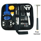 Watch Repair Tool Kit Case Opener Link Remover Spring Bar Tool + Free Hammer US