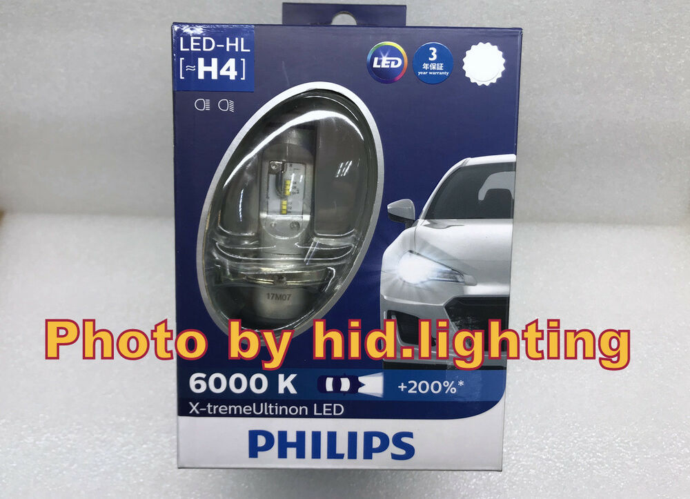 philips h4 hi lo beam 6200k led 150 23w headlight bulb. Black Bedroom Furniture Sets. Home Design Ideas