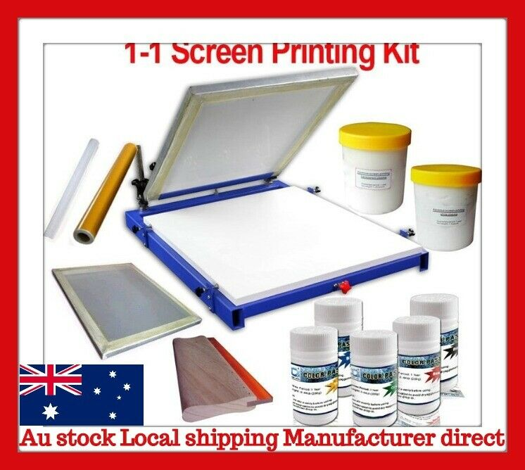 1 Color Screen Printing Kit Screen Press Frame Squeegee