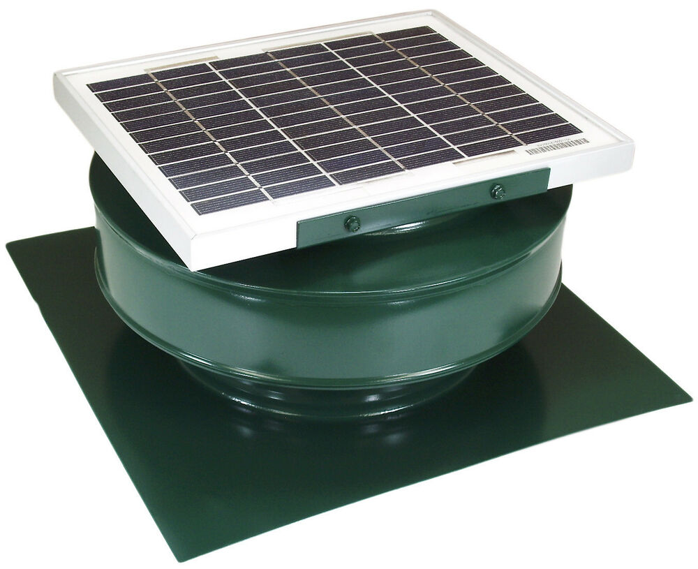 Roof Air Ventilator : Round back attic roof vent solar fan in w v cfm
