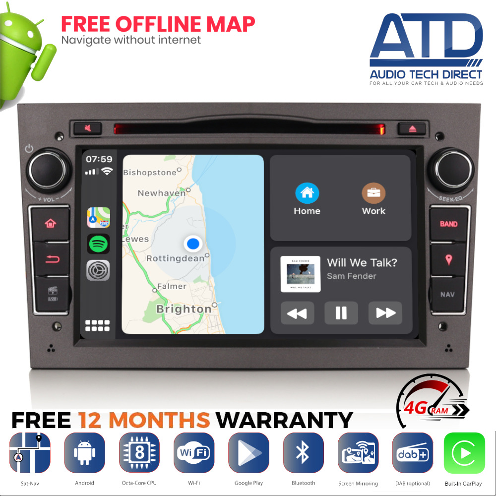 7 android 8 oreo dab radio gps sat nav dvd stereo for. Black Bedroom Furniture Sets. Home Design Ideas