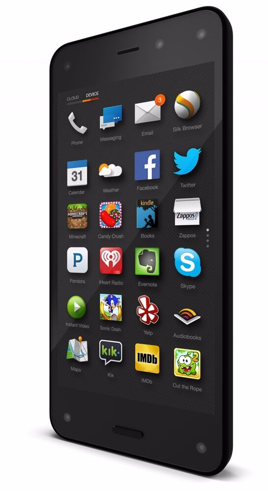amazon fire phone 32gb black at t unlocked smartphone 848719035209 ebay. Black Bedroom Furniture Sets. Home Design Ideas