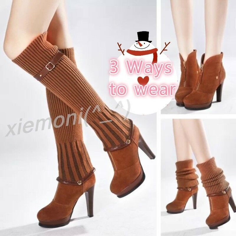 womens knee high boot mid calf ankle boots block high