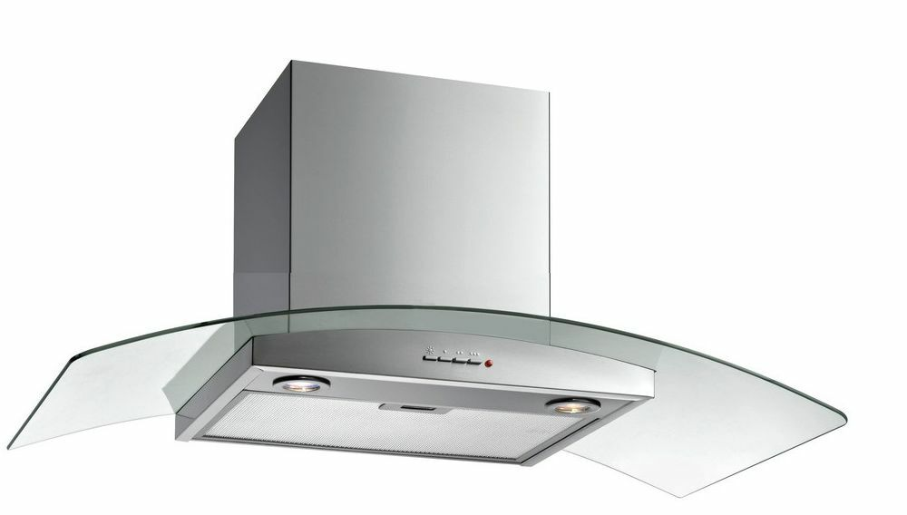 Cooker Hood With A Window ~ Prima prcg cm glass chimney cooker hood stainless