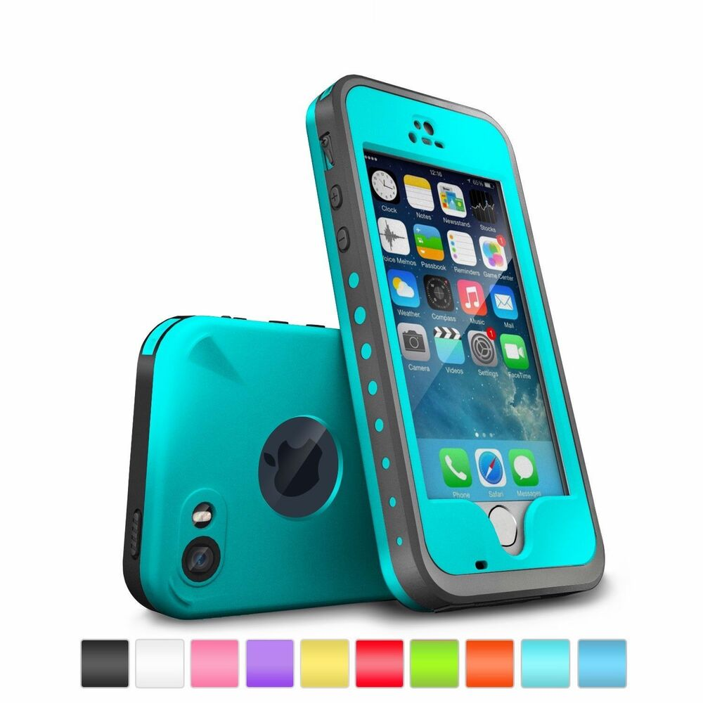 best waterproof iphone 5s case waterproof shockproof dirtproof touch id cover for 16712
