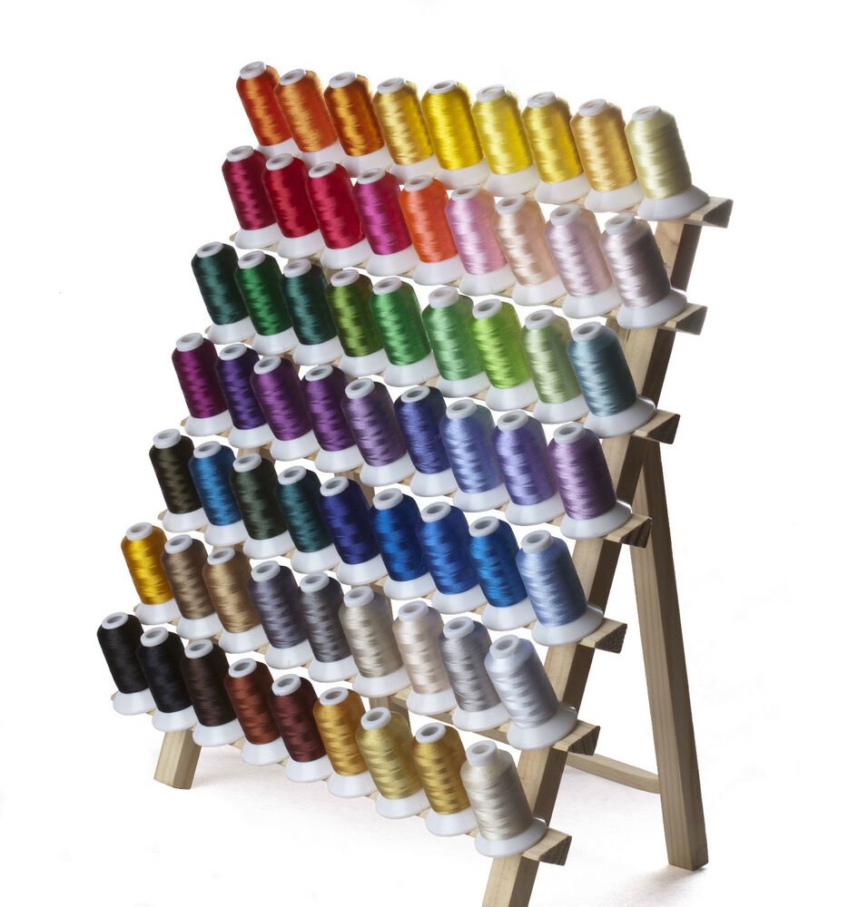 SIMTHREAD 40Wt Polyester Embroidery Machine Thread Spools- 63 Brother Colors/kit | EBay