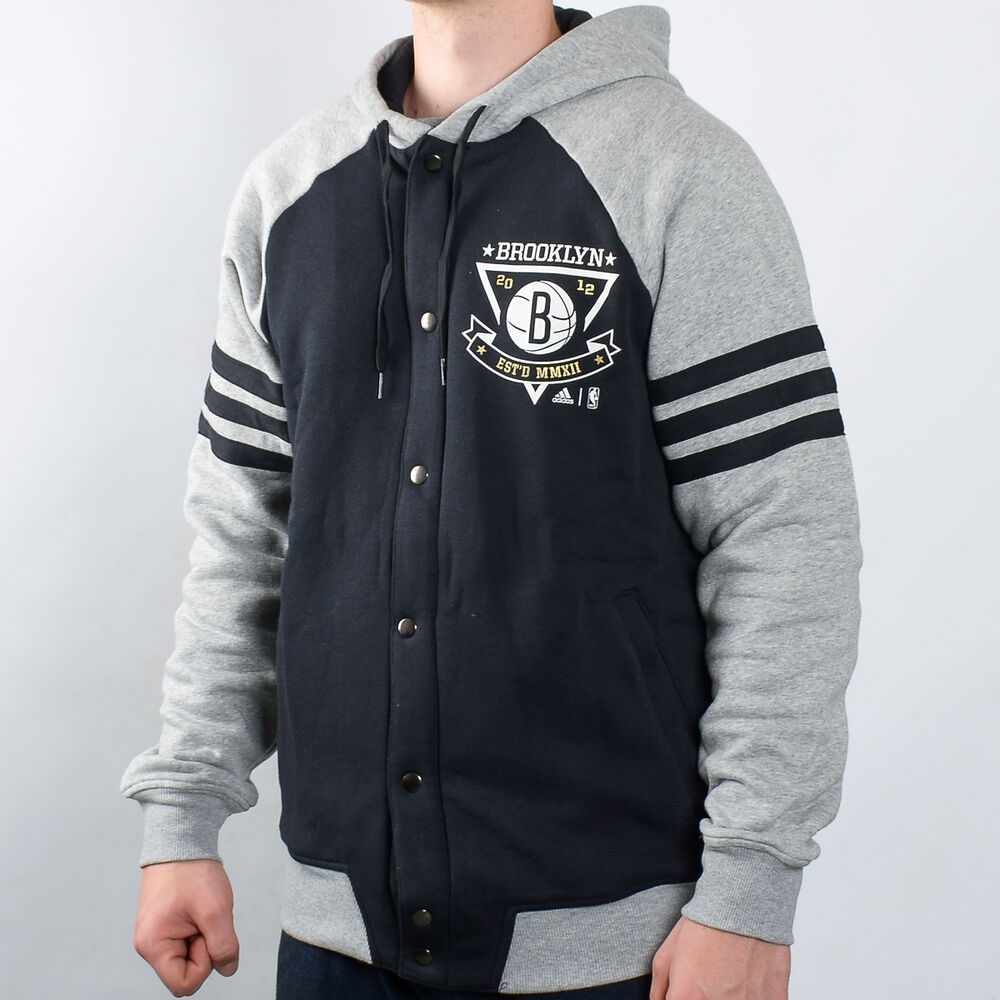c10c8a38234a Details about adidas NBA Brooklyn Nets Washed Jacket men NEW AX7671 black  grey white gold