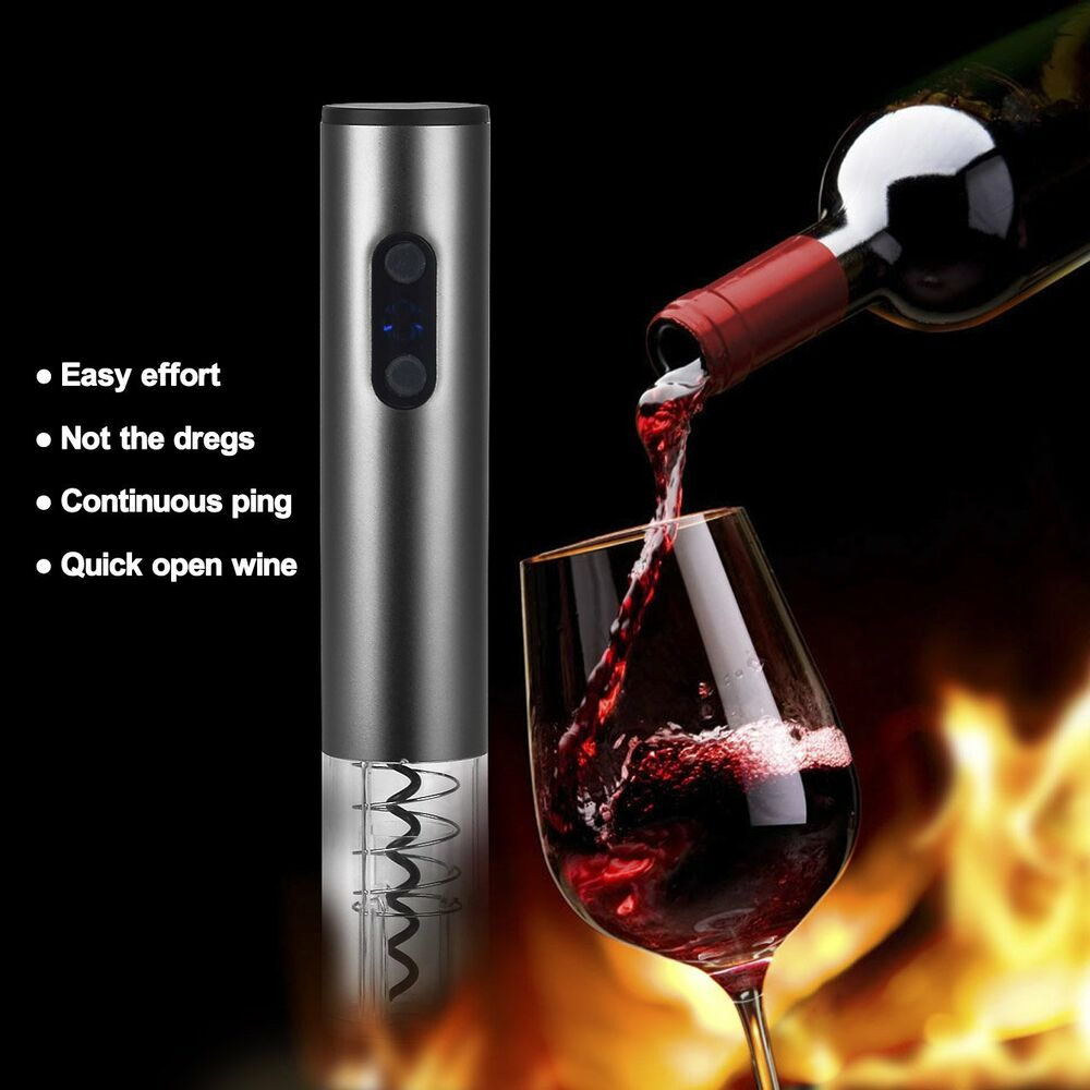 Electric Wine Bottle Opener Automatic Corkscrew Cordless Cutter Opening Kit Gift