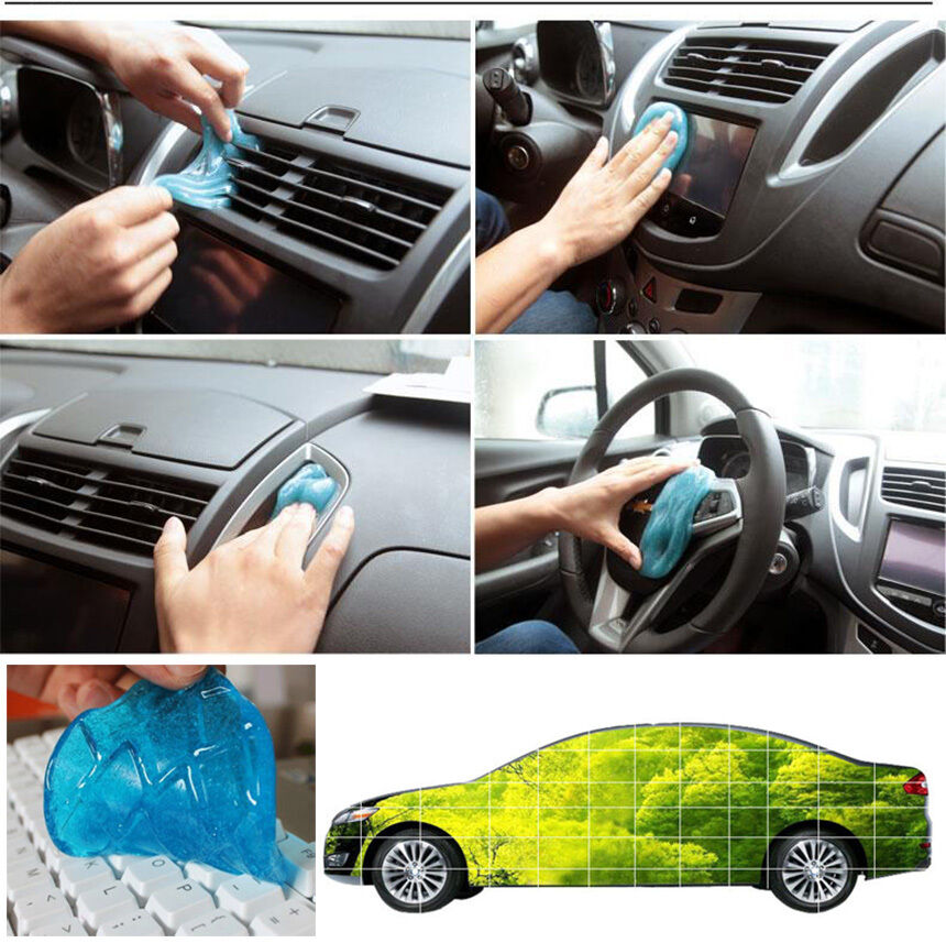 car practical glue super adsorption auto accessories cleaning gap dust dirt gel ebay. Black Bedroom Furniture Sets. Home Design Ideas