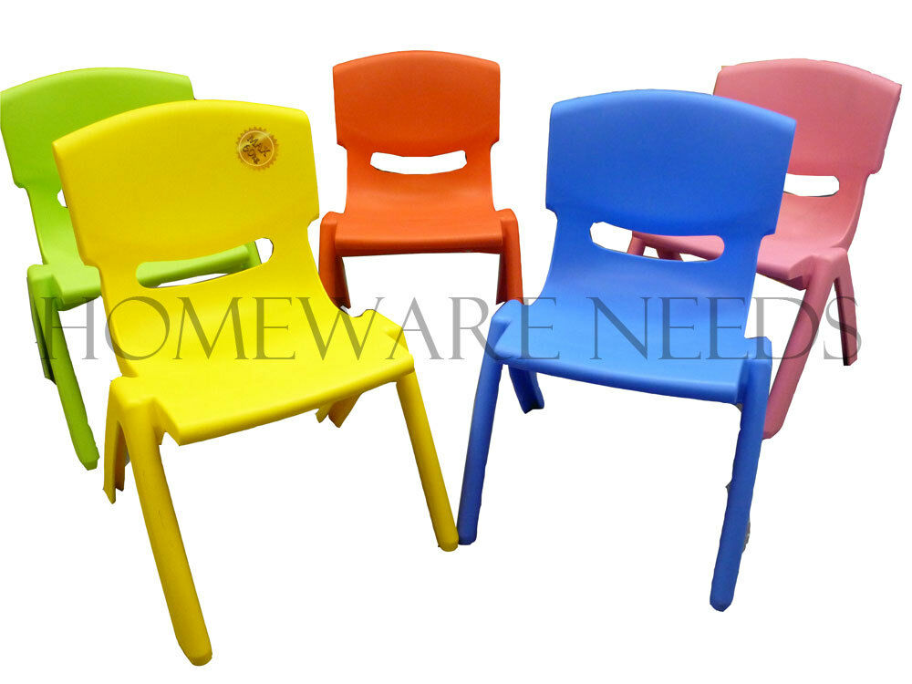 Extra strong childrens kids plastic chair ideal for for Kids sitting furniture