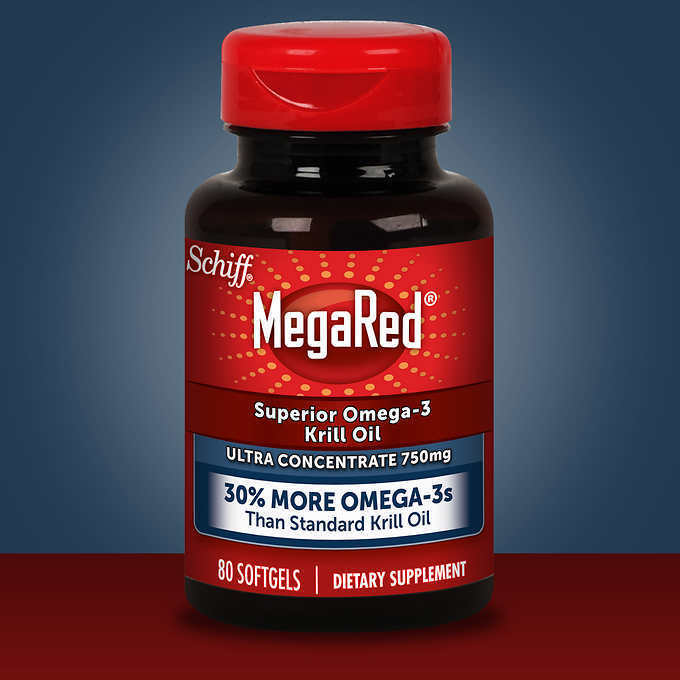 schiff megared high concentration krill oil 750 mg 80
