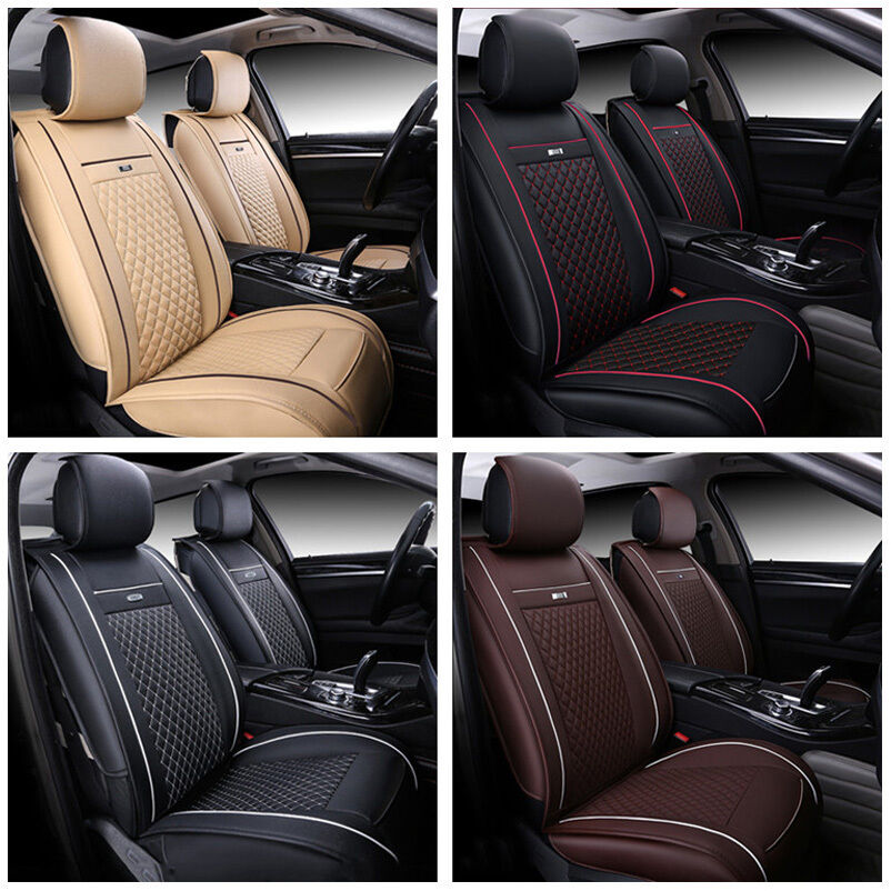 PU Leather Auto Car Seat Mat Covers 3D Full Surrounded For
