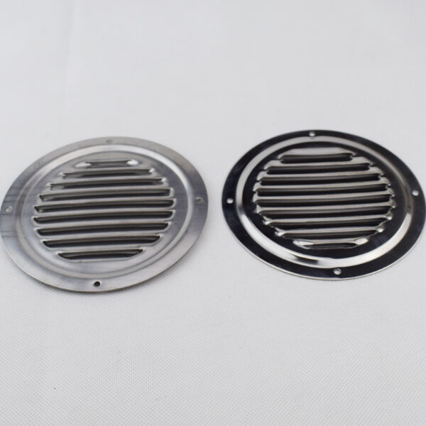 2pcs 5 round louvre air vent s s ventilation ventilator grille cover well made ebay. Black Bedroom Furniture Sets. Home Design Ideas