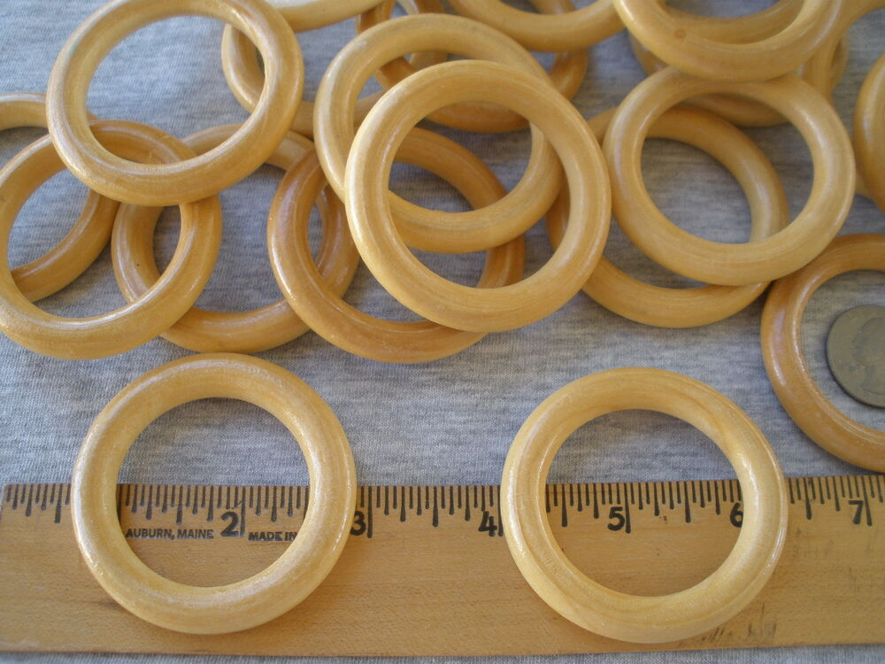 50 pack 55mm wood rings wooden o rings craft macrame home for Wooden rings for crafts