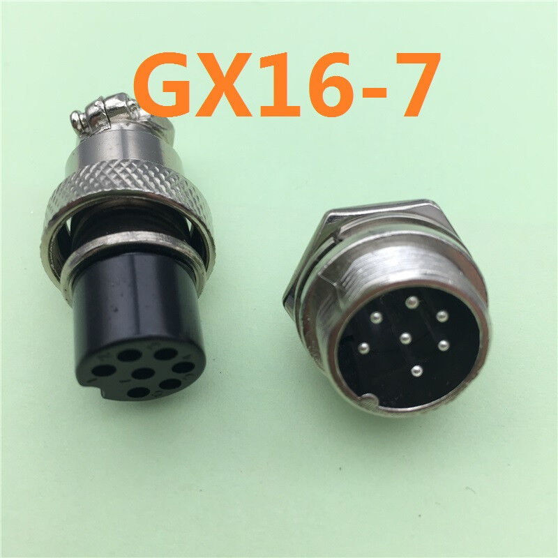1set Gx16 7 Pin Diameter 16mm Wire Panel Connector L75
