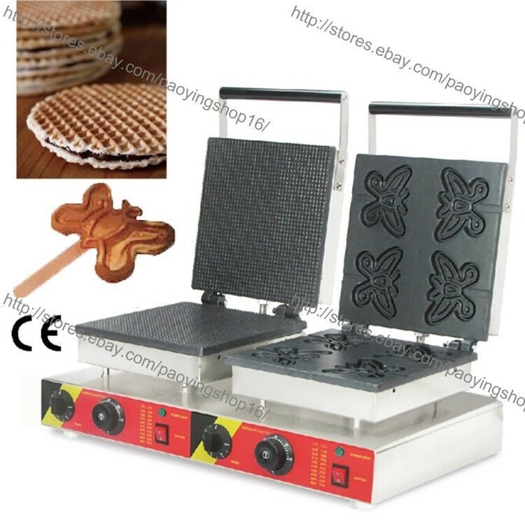 Electric Waffle Maker ~ Commercial nonstick electric dutch stroopwafel maker