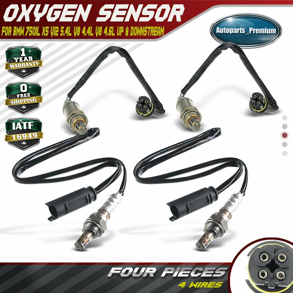 4x o2 oxygen sensor for bmw 750il 1995