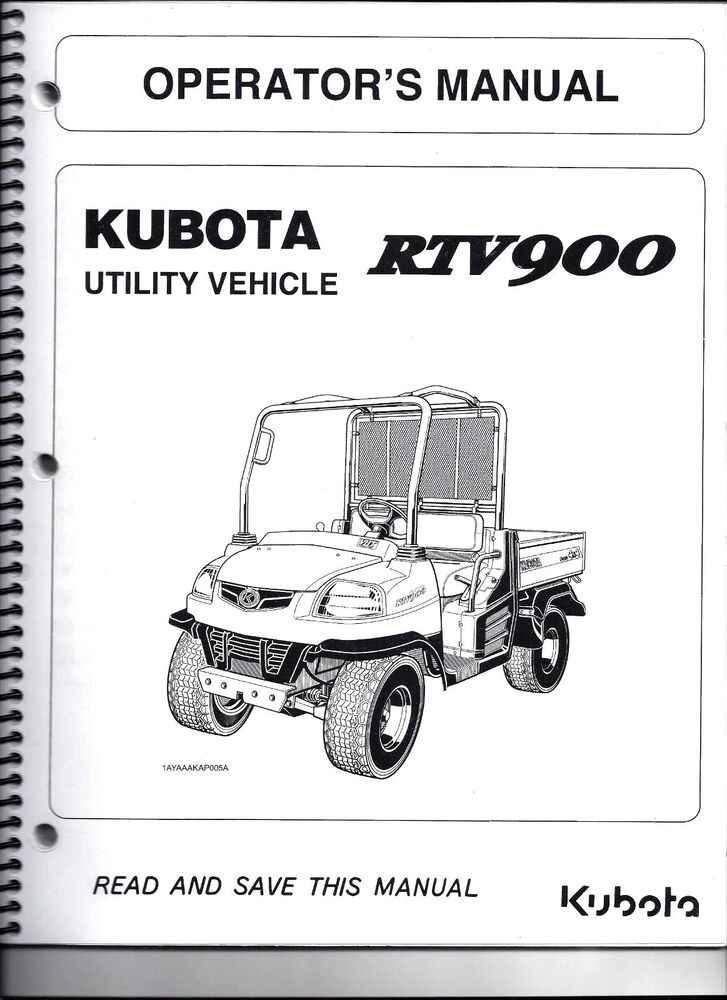 kubota rtv900 utility vehicle side by side operator 39 s. Black Bedroom Furniture Sets. Home Design Ideas
