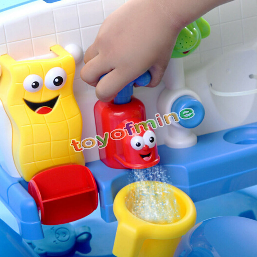 Baby Gift Fun Cartoon Flow Fill Spout Bath Toy Learning